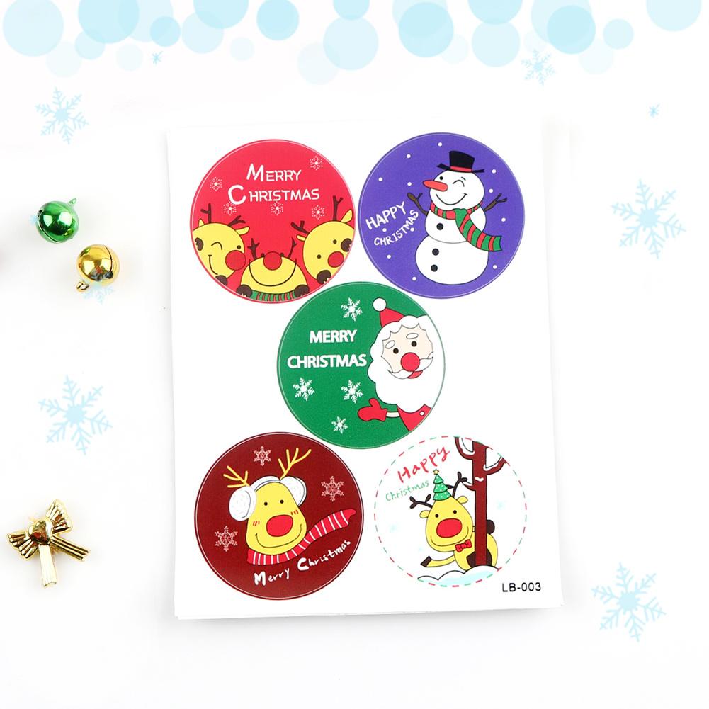 [메이크문구]포장스티커 크리스마스 10개