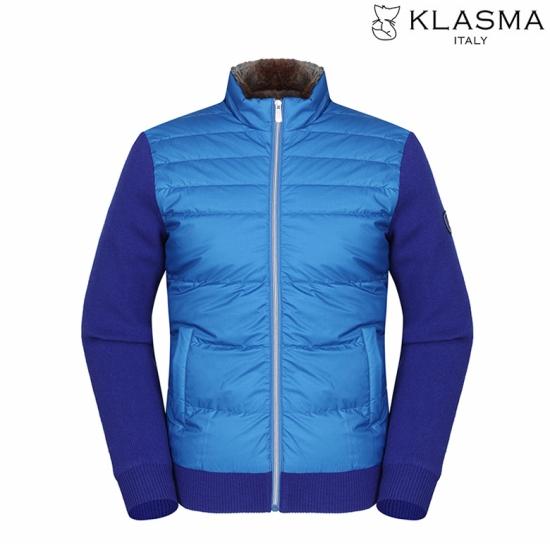 KLASMA 남성 토끼털넥 캐주얼 덕다운 점퍼K74AJPM060-BL