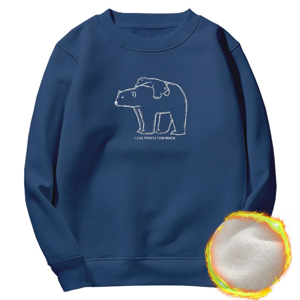 [문컬렉션]기모맨투맨/북극곰