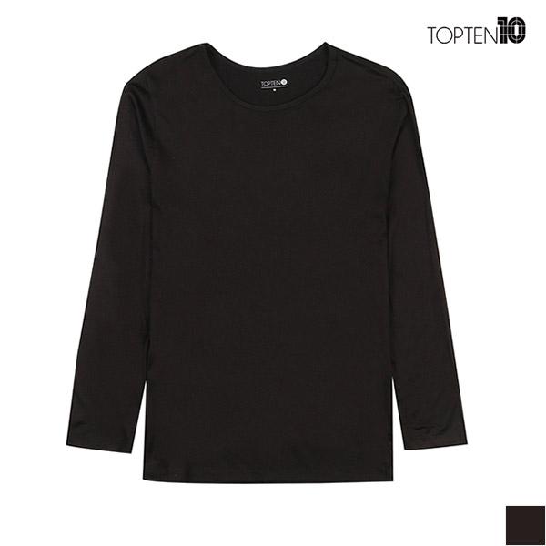 탑텐남성 베이직 라운드넥 블랙 이너웨어 9부소매 티셔츠 (MSV5US1901)