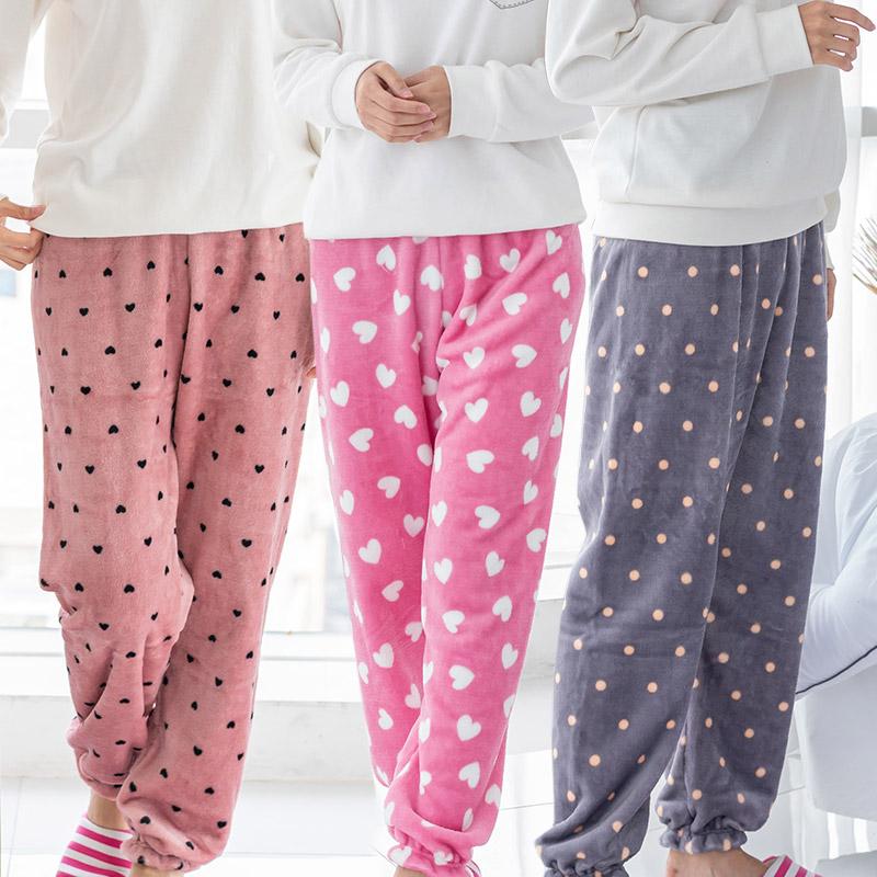 [민트코코아] 고급밍크 겨울 여성 수면 잠옷바지 9부 5종택1