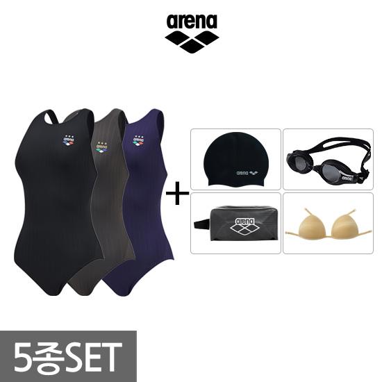 아레나수영복  AVFL1PL01A40 여성 원피스 수영복세트