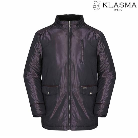 KLASMA 남성 솔리드 광택 토끼털 패딩 점퍼K74AJPM020-WI