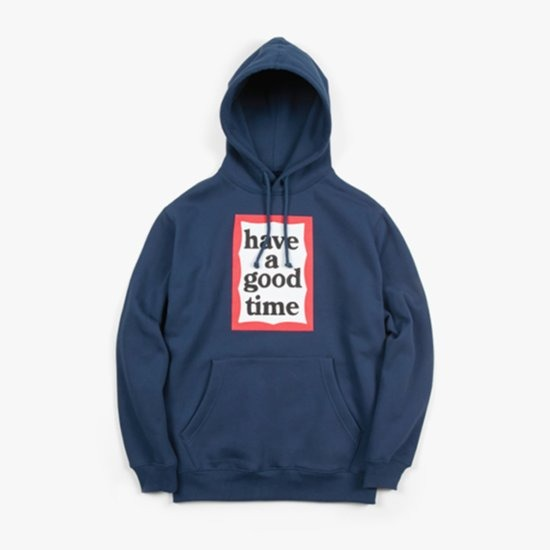 [HAVE A GOOD TIME] Frame Pullover_Navy 해브 어 굿 타임