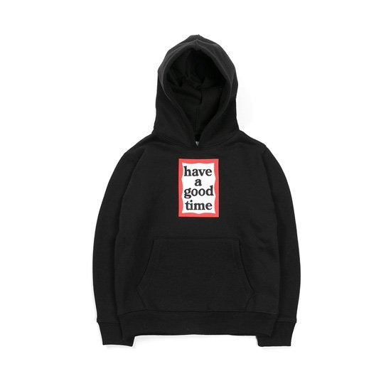 [HAVE A GOOD TIME] KID FRAME PULLOVER_BLACK 헤브 어 굿 타임