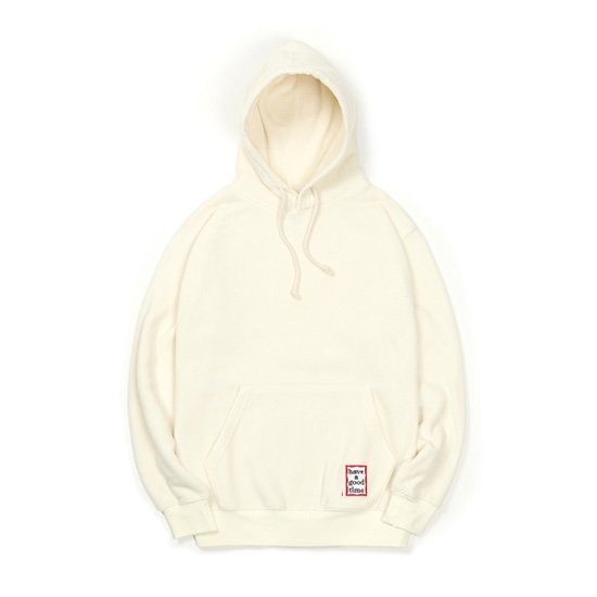 [HAVE A GOOD TIME] Fleece Pullover_White 해브 어 굿 타임