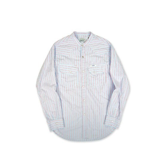 [SWELLMOB] Swellmob Western Band-neck Shirts_Stripe 스웰맙