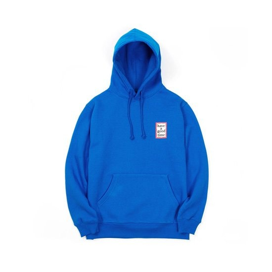 [HAVE A GOOD TIME] MINI FRAME PULLOVER_BLUE 헤브 어 굿 타임