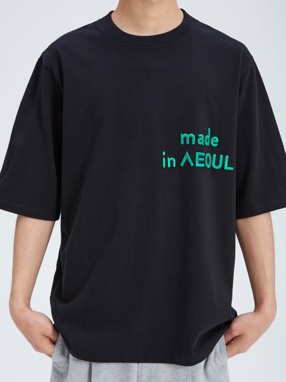 [newkidz nohant] MADE IN SEOUL T SHIRT BLACK