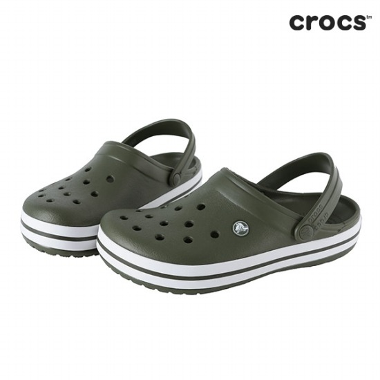 크록스  Crocband Army Green 11016-37P